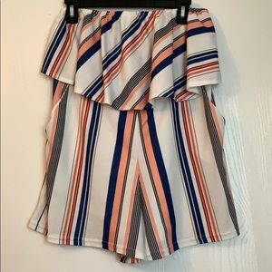 Striped Romper WITH POCKETS!